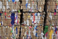 Bales of recycled paper